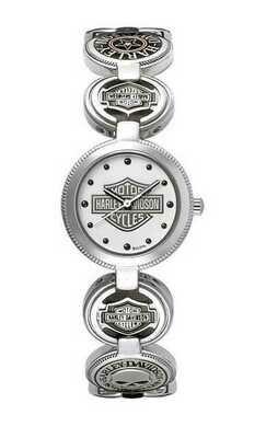 Harley-Davidson® Women's Bulova Charm Bracelet Wrist Watch