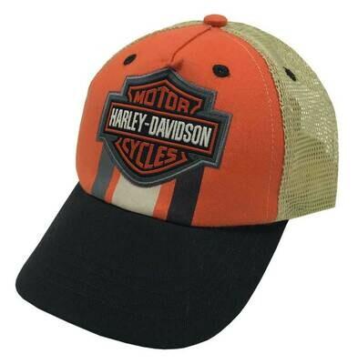 Harley-Davidson® Little Boy's Embroidered Bar & Shield Trucker Baseball Cap