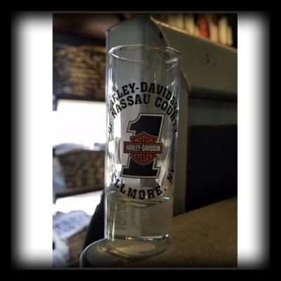 Nassau County Harley Davidson Shot Glass