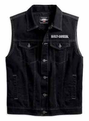 Harley-Davidson® Men's Upright Eagle Denim Vest
