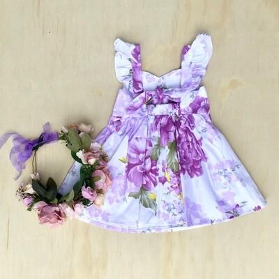 Delilah Tie-Back Dress | Purple Haze