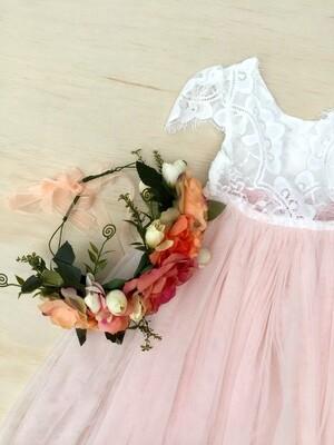 Coral Flower Crown