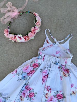 Charlotte Dress   Cotton Candy   Size 7 Only