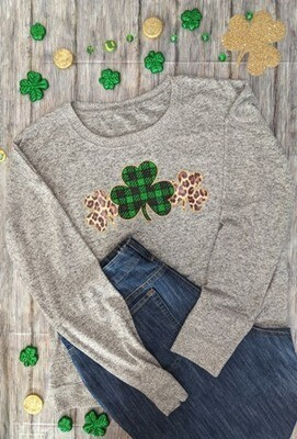 Shamrock Buffalo Plaid and Leopard Print
