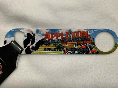 Appleton Harley-Davidson® Cow Graphic Magnetic Bottle Opener