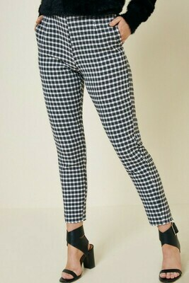 Gingham Hi Rise Pant  3X to L only Left!!