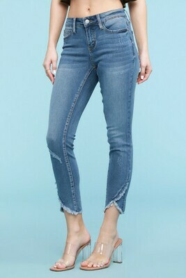 Judy Blue Tulip Fray Skinny Jeans - Going Fast!!