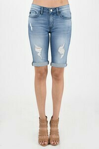 KanCan Distressed Bermuda Shorts 3X to XL!!