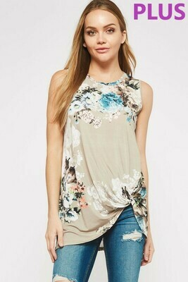 Floral Side Knot Top 3X Only left!!