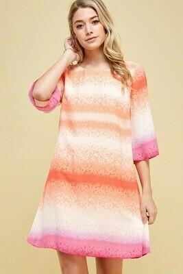 Tie Dye Shift Dress Size 14 to 4!
