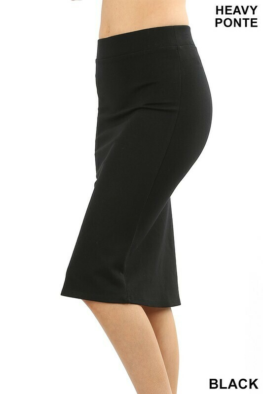 Ponte Pencil Skirt 3X to S!