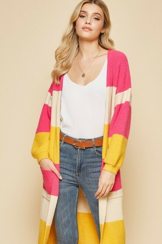 Colorblock Cardigan 3X to S!!