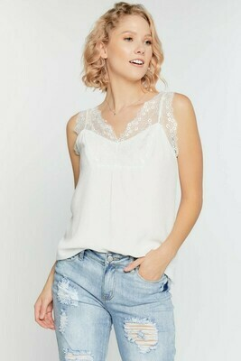 Floral Lace Sleeveless Top M only Left!!
