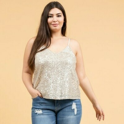 Sequin Cami Tank 0X to 3X!!!