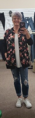 Floral Sweat Jacket L to S!!