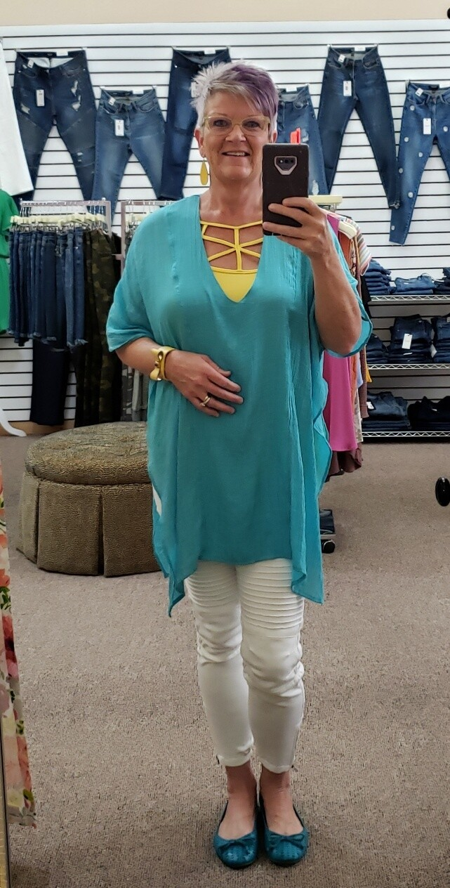 V Neck Caftan or Cover up!!  1X/2X to S/M!!