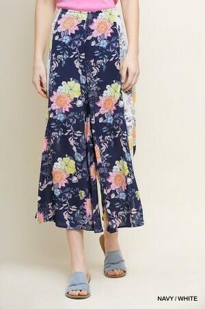 Floral Split Leg