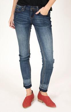 Raw Hem Side Slit Jean   Select Sizes Left!!!