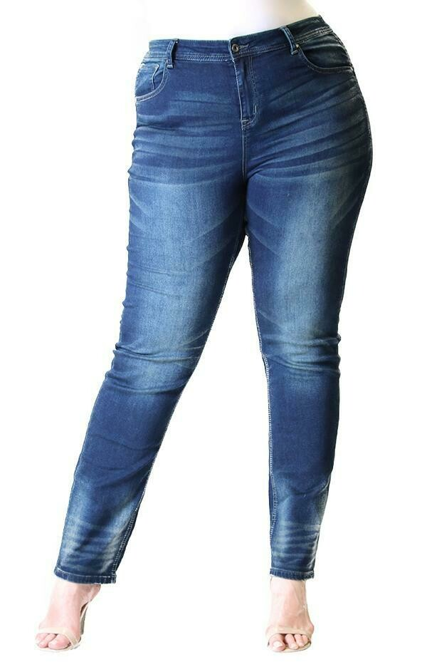 Dark Wash Easy Fit Jean  Only sizes 18 & 22 Left!!!!