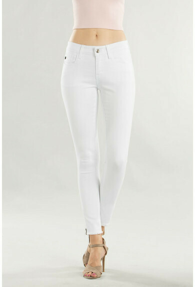 KanCan Jeans White Ankle Zip Size 3X to 7!!