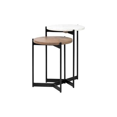 Topanga Marble + Wood Table