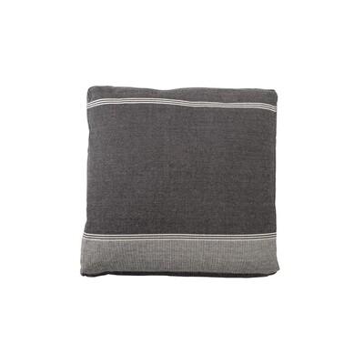 Black Woven Floor Cushion