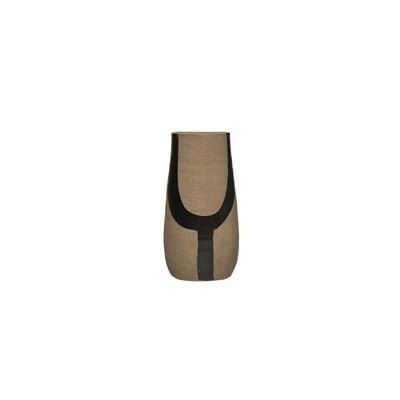 Y Black Terracotta Vase
