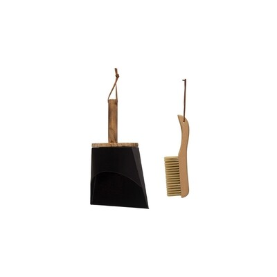 Brush and Metal Dust Pan