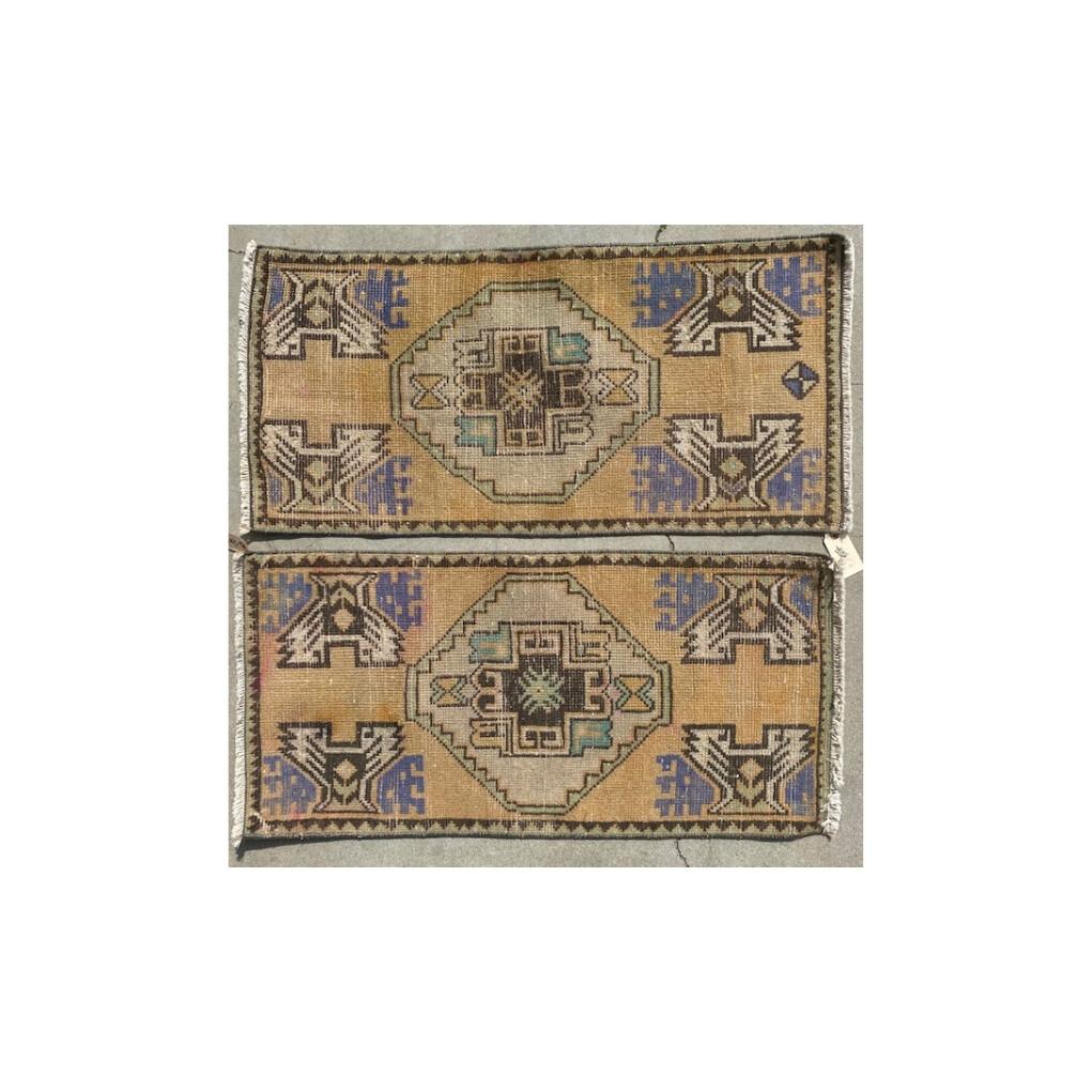 Pair of Vintage Prayer Rugs- Lilac