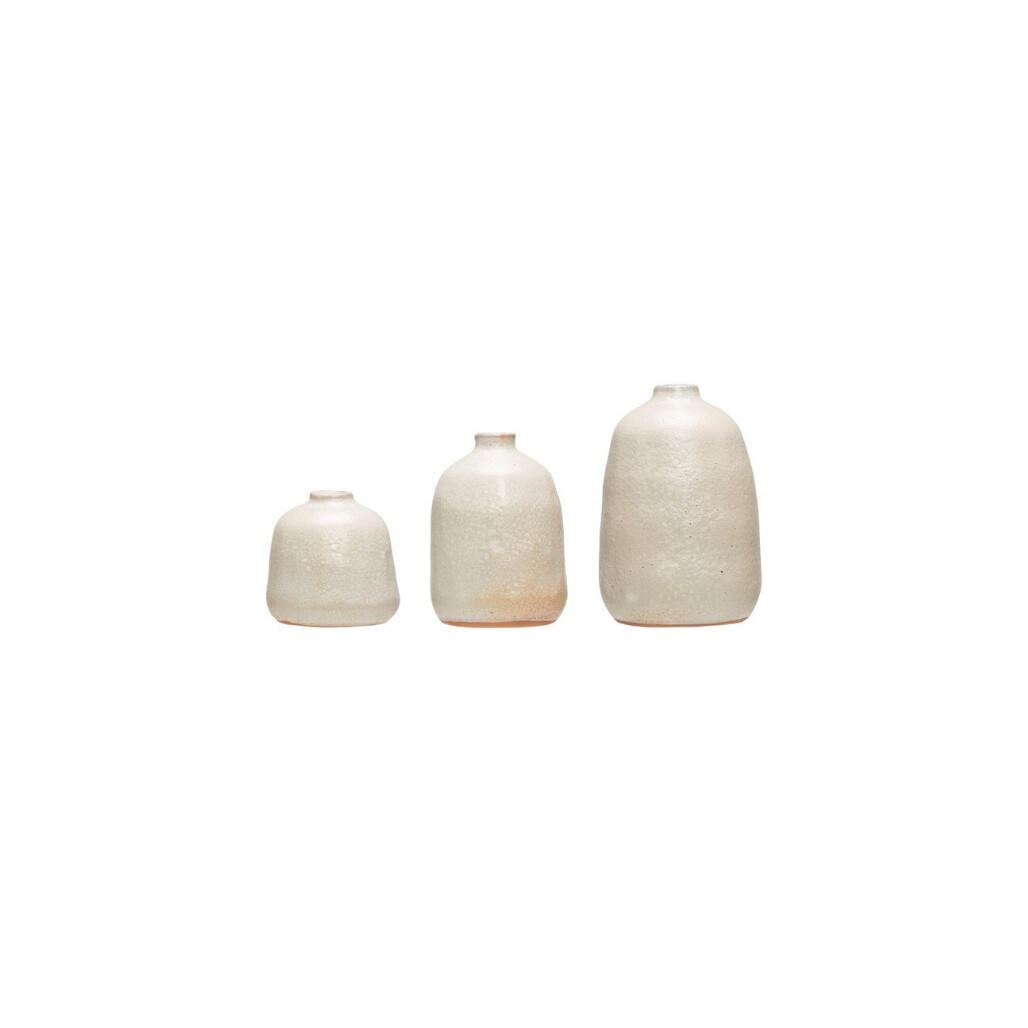 Terracotta Grey Sand Vases - Set of 3