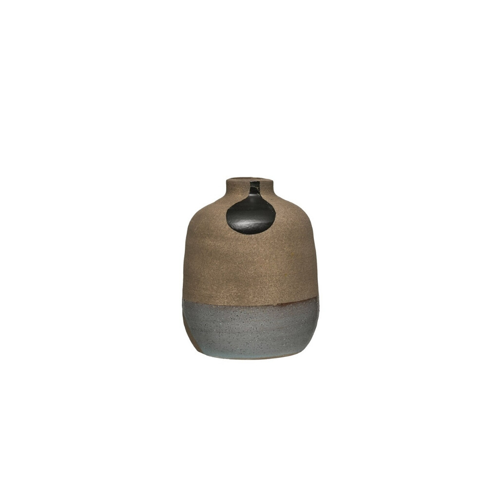 Black Drop Terracotta Vase