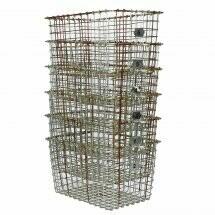 Vintage Locker Basket Set of 6