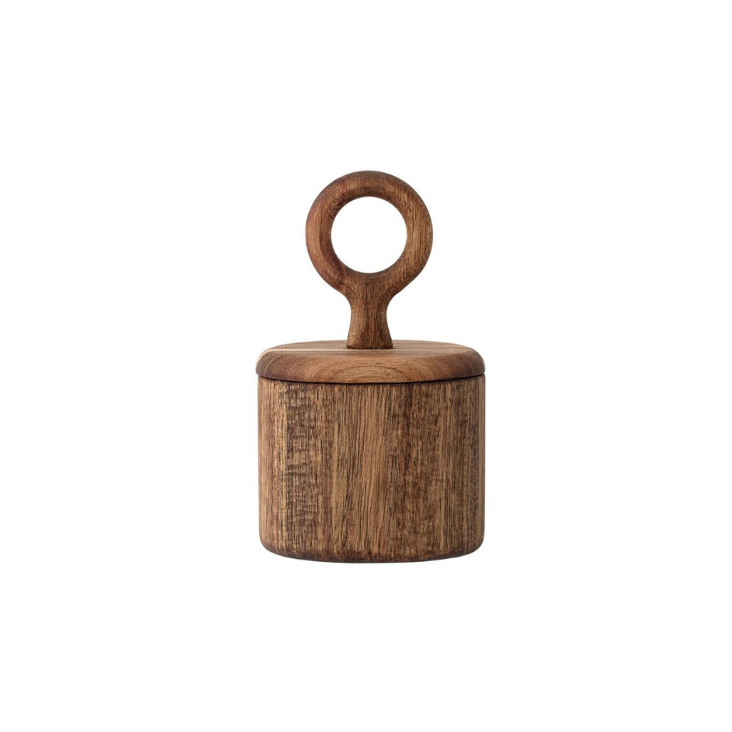 Acacia Wood Canister - S