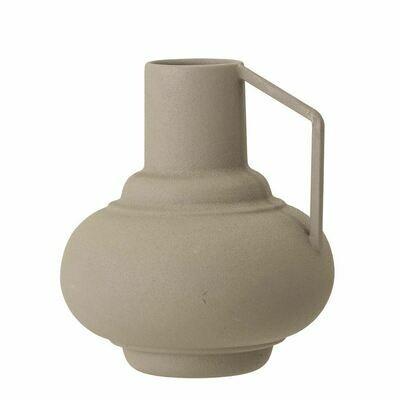 Textured Sage Metal Vase