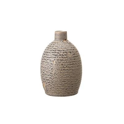 Rippled Grey Vase