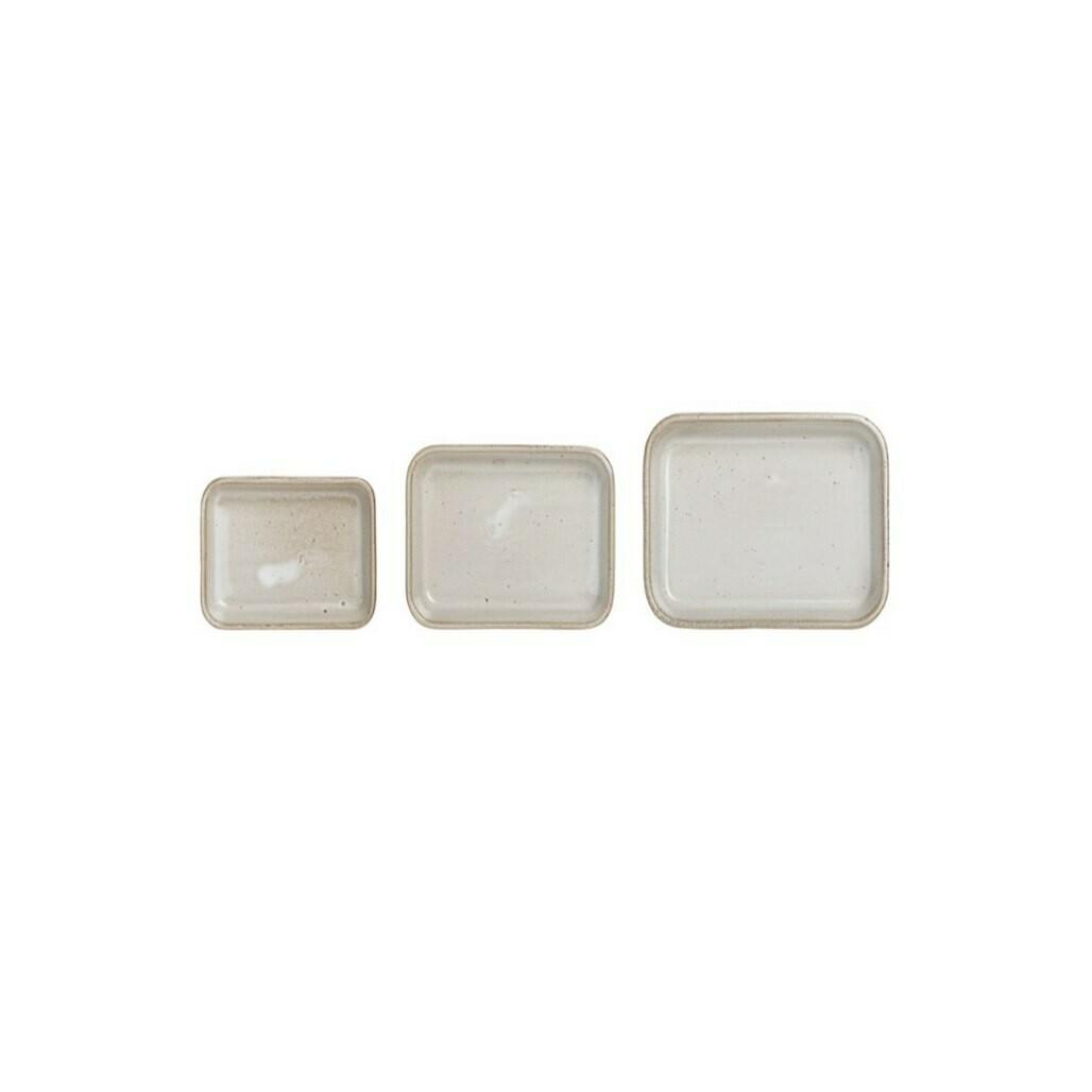 Set of 3 Stoneware Dishes