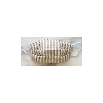 Navy and Cream Striped Captain Mask