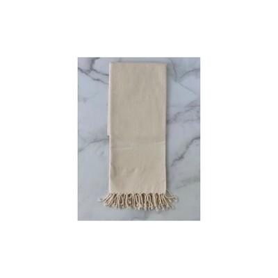 Herringbone Turkish Bath Towel - Cream