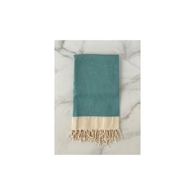 Herringbone Turkish Bath Towel - Turquoise