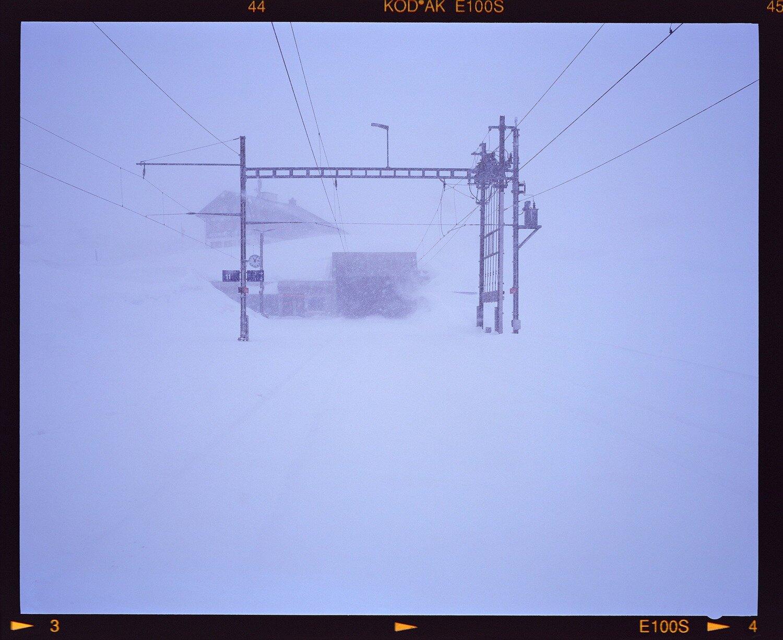 Bahnhof Oberalppass im Winter