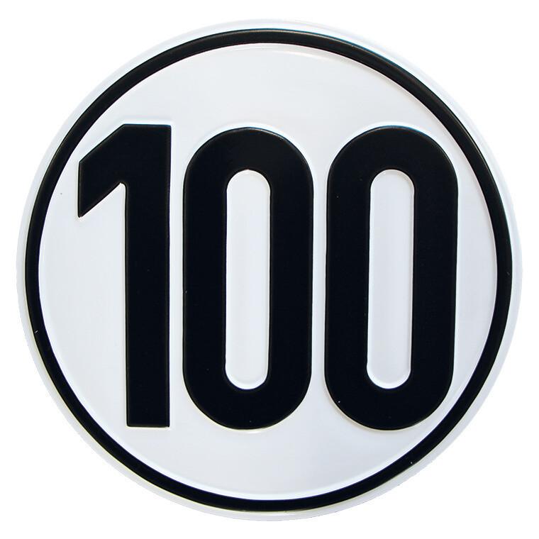 Geschwindigkeitsschild 100 km/h