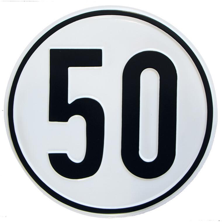 Geschwindigkeitsschild 50 km/h