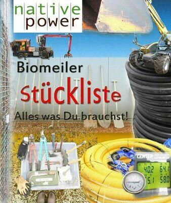 Stückliste zum holzigem Biomeiler, Version 2020, PDF-Dokument, 4 Seiten  (zum Runterladen nach Zahlungseingang)