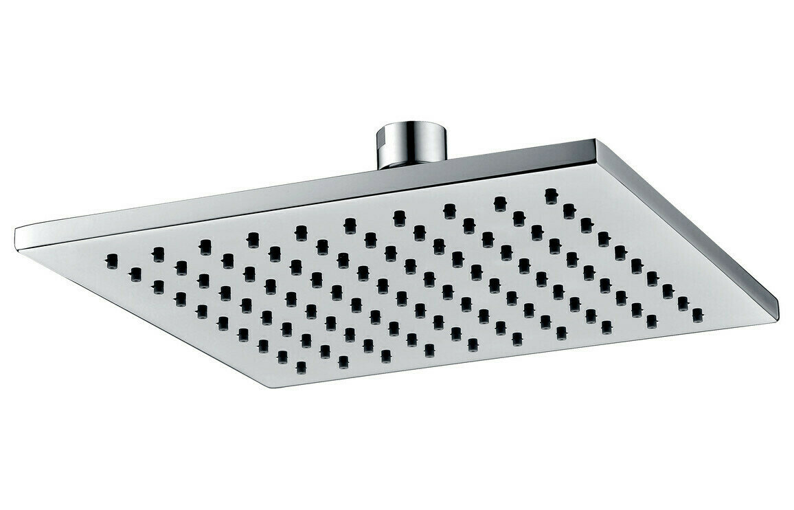 200mm Square ABS Showerhead - Chrome