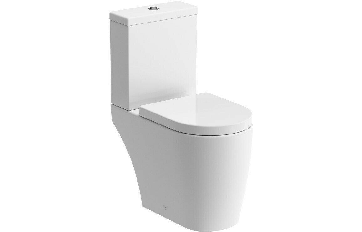 Cilantro Rimless C/C Open Back WC & Soft Close Seat