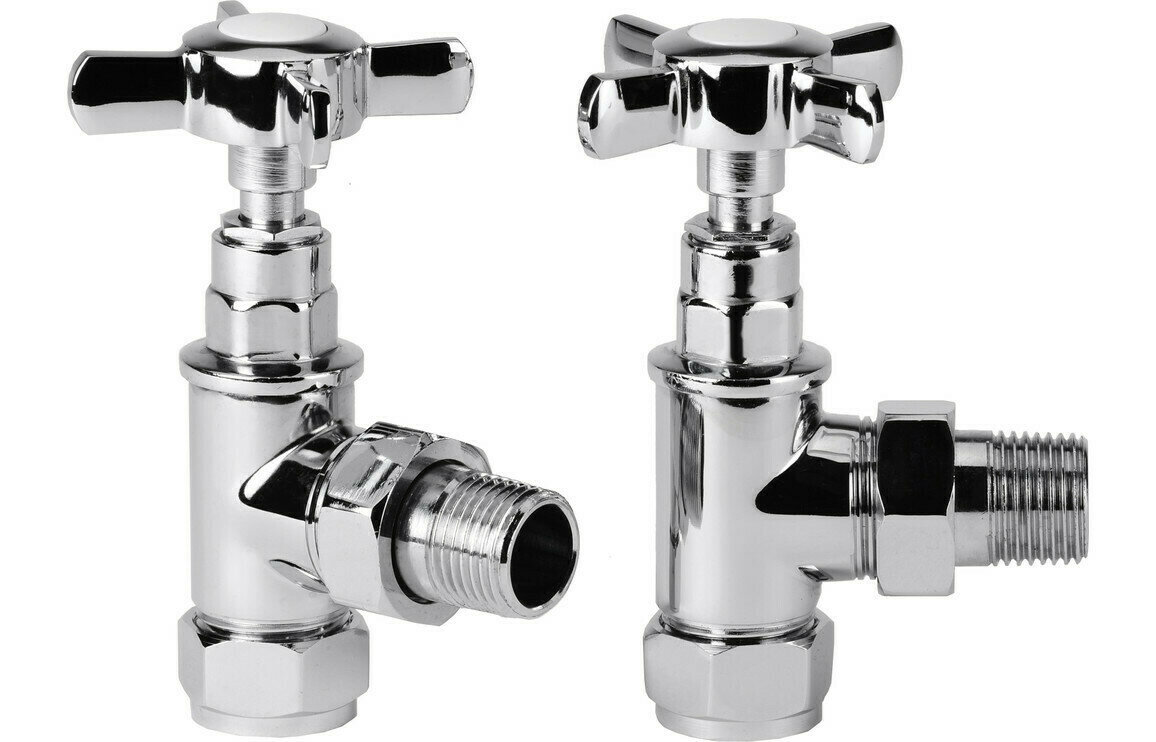 Eterno Crosshead Angled Radiator Valves
