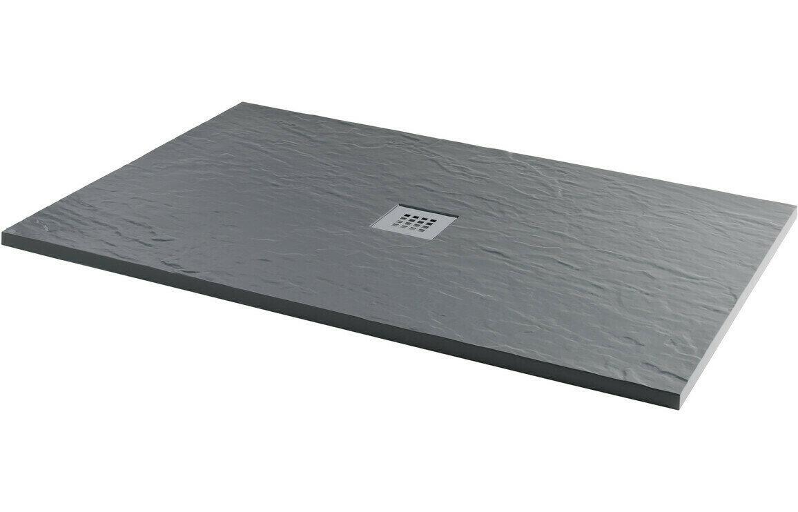 RefleXion 25mm 1000x800mm Slate Effect Ultra-Slim Rectangular Tray & Waste