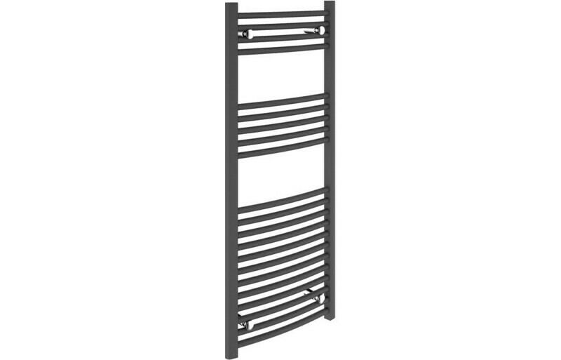 22mm Curved Towel Warmer 500x1200mm - Anthracite