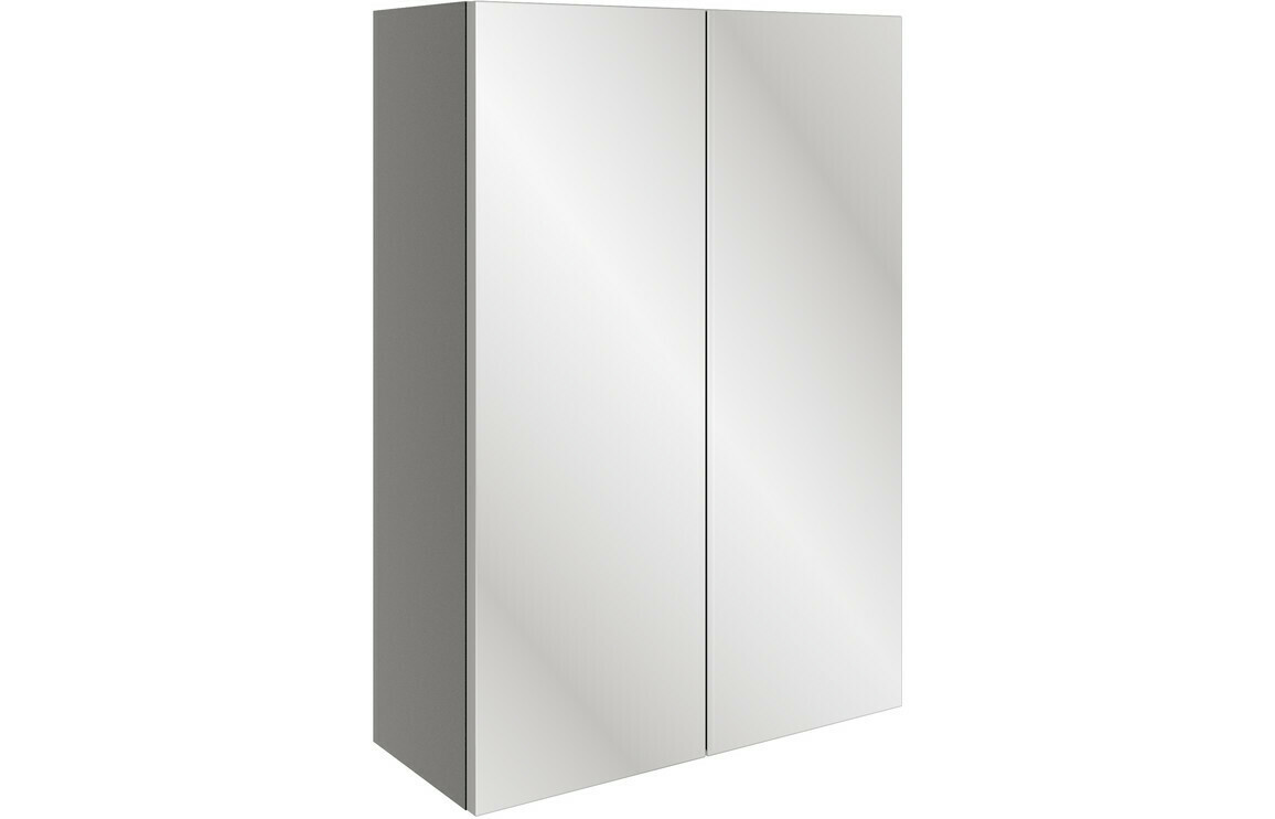 Valesso 500mm Mirrored Unit - Onyx Grey Gloss