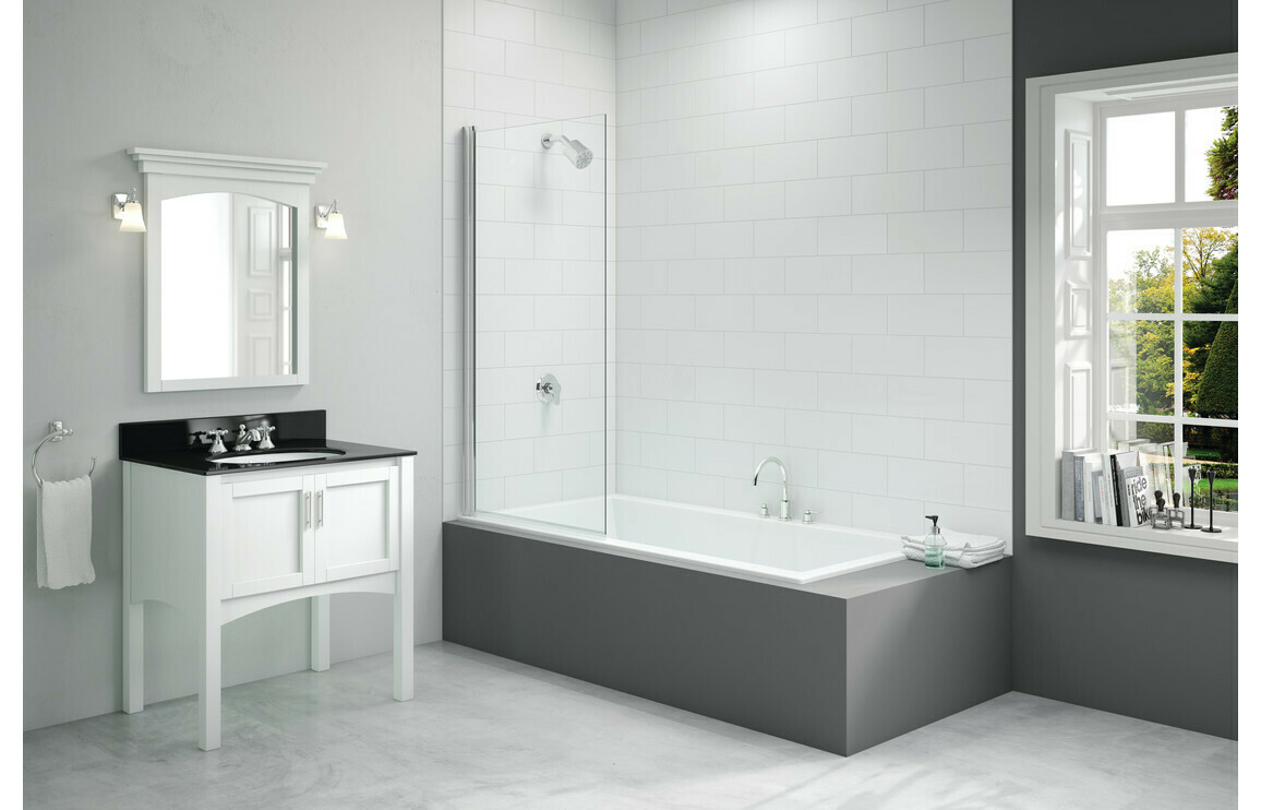 Merlyn 800x1500mm Single Square Bath Screen